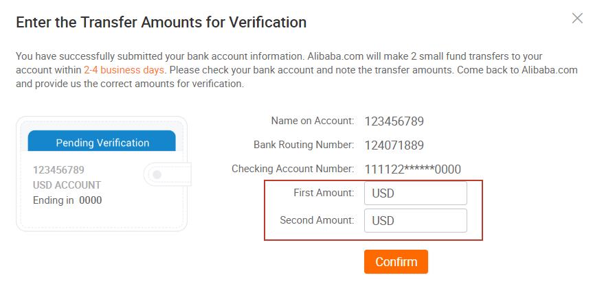 verify bank account